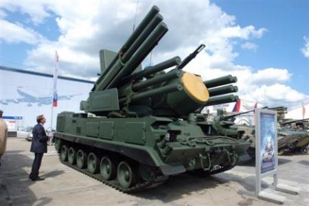 """Противавионски ракетно-топовски систем """"Панцир-С"""". Извор: Росијска газета."""