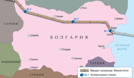 Јужни ток - Бугарска