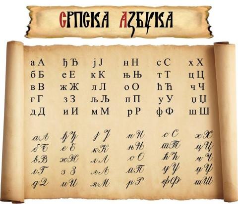 Српска азбука (фото: Чувари ћирилице, https://www.facebook.com/SerbianAlphabet)