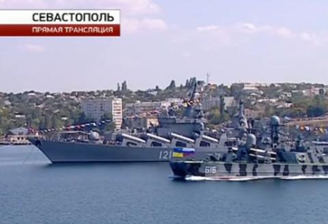 Севастопољ. Летос била прослава годишњице Црноморске флоте.