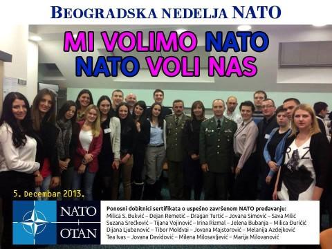 Ми волимо НАТО - НАТО воли нас