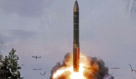 Тестирање руске балистичке ракете.