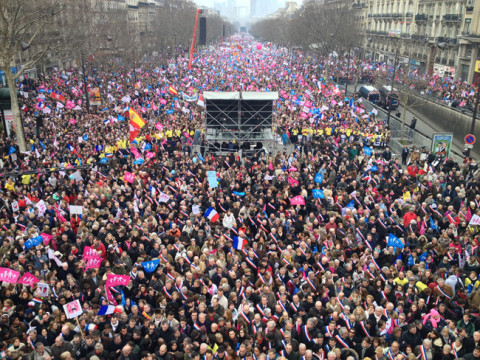 Протест у Паризу