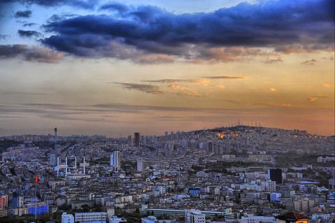 Анкара - залазак сунца,  фото: http://www.skyscrapercity.com/