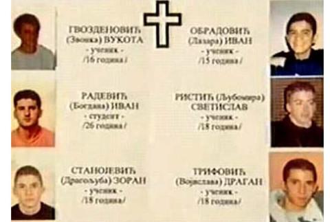 Убијени младићи у Пећи. 14. децембра 1998. године.