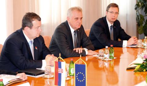 Дачић, Николић и Вућић са ЕУ