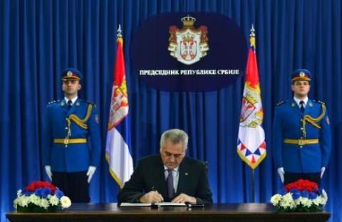 Томислав Николић расписује изборе 29-01-2014