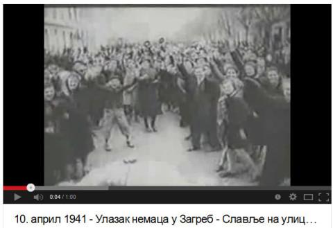 10. април 1941 - Улазак Немаца у Загреб - славље на улицама