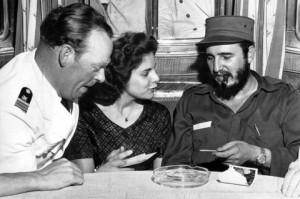 Марита Лоренц и Фидел Кастро