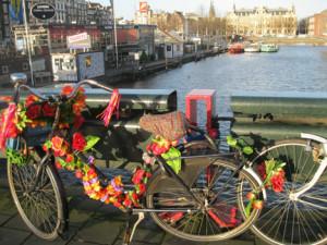 Поглед са амстердамског бицикла
