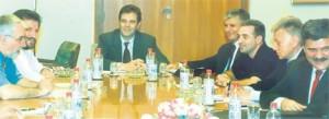 Састанак председништва ДОС-а 27. јула 2001. године (Фото Д. Ћирков)