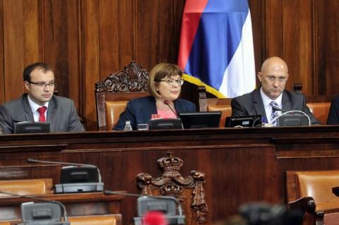 ЗА НОВОГ председника Скупштине Србије данас је већином гласова изабрана Маја Гојковић, посланик СНС