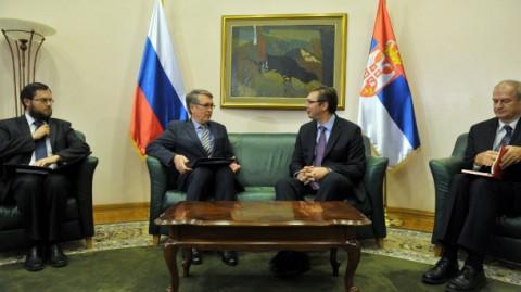 Александар Вучић састао се данас са амбасадором Руске Федерације Александром Чепурином