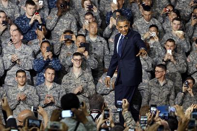 Обама са маринцима