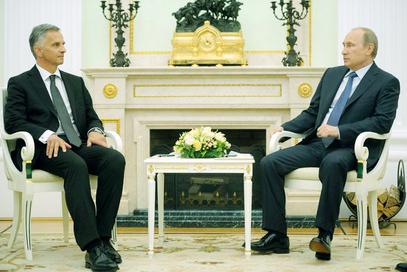 Дидије Буркхалтер и Владимир Путин