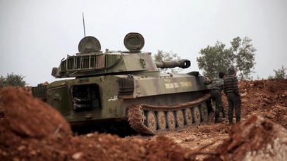 Укопан сиријски тенк
