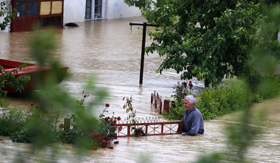 Ниво воде у Српској.../© Photo: REUTERS/Marko Djurica