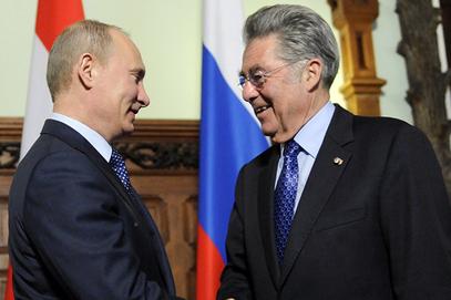 Владимир Путин и Хајнц Фишер