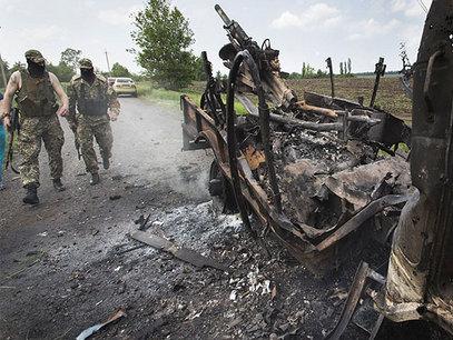 Украјина, згариште послије сукоба зараћених страна