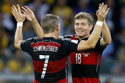 Тони Крос и Баштијан Швајнштајгер,Светско првенство у фудбалу 2014 полуфинале