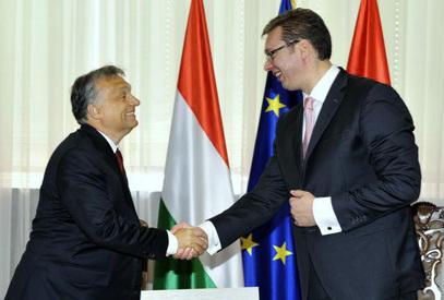 Виктор Орбан и Александар Вучић