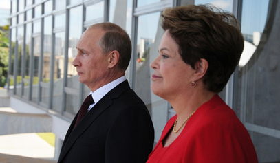 председница Бразила Дилма Русеф и председник Русије Владимир Путин / © Photo: RIA Novosti/Mikhail Klimentyev
