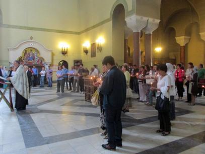 У цркви Светог Марка у Београду одржан парастос за више од 1.600 Срба из Ливна који су погинули у Другом свјетском рату - Фото: СРНА