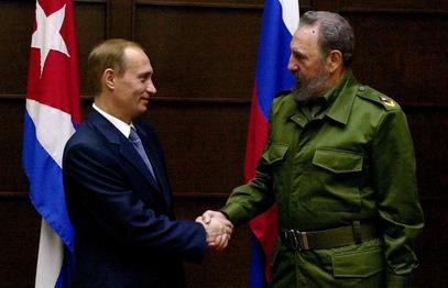 Путин и Фидел Кастро приликом сусрета 2000. године