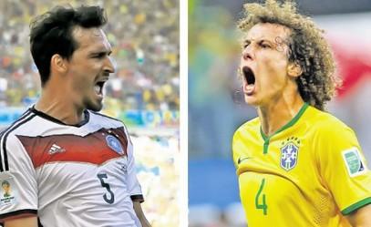 Штопери расположени за голове: Бразилац Давид Луиз и Немац Матс Хумелс / Фото Ројтерс