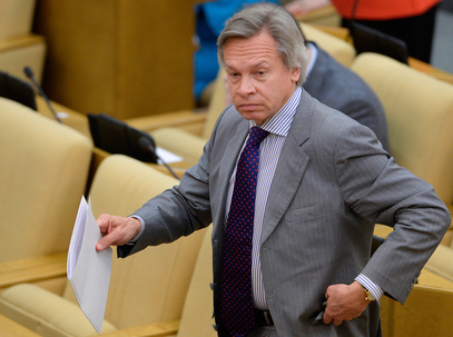 Шеф спољнополитичког комитета Државне Думе Алексеј Пушков.