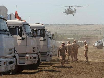 Хуманитарни конвој из Русије чека на граници / Фото: Beta/AP