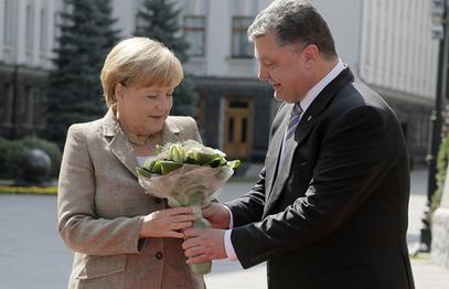 Ангела Меркел и Петар Порошенко