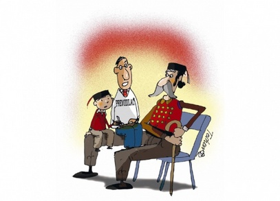 Карикатура Тошо Борковић