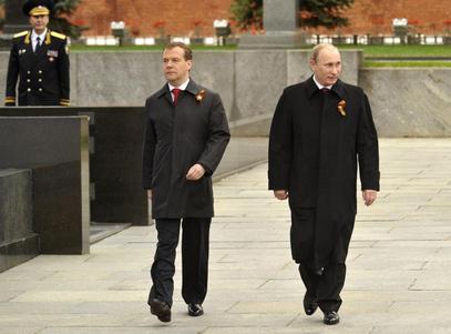 Димитриј Медведев и Владимир Путин