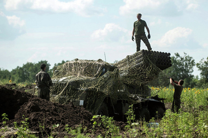 """Размештање ракетних система """"Точка-У"""", """"Смерч"""" и """"Ураган"""" око Доњецка."""