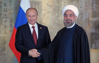Владимир Путин и  Хасан Рохани