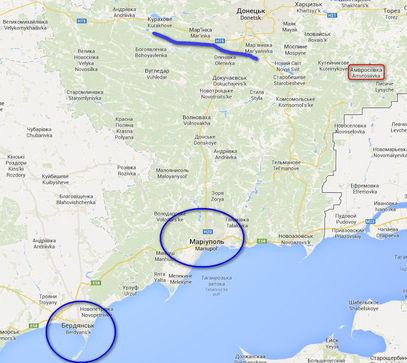 Мапа дела Новорусије