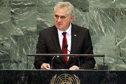 Томислав Николић у Генералној скупштини УН