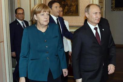 Ангела Меркел и Владимир Путин у Милану