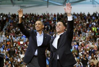 Амерички председник Барак Обама и  Ентони Браун