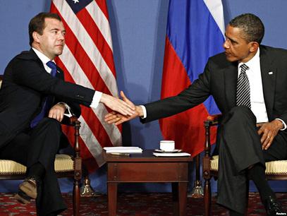 Дмитриј Медведев и Барак Обама