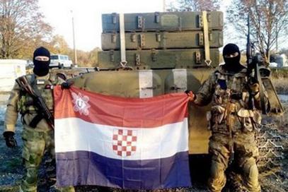 Усташка шаховница на страни армије кијевске хунте
