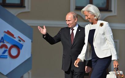 Владимир Путин и Кристин Лагард током ранијег сусрета