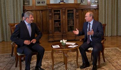 Филип де Вилије и Владимир Путин