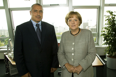 Боjко Борисов и Aнгела Mеркел
