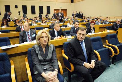 Жељка Цвијановић и Милорад Додик