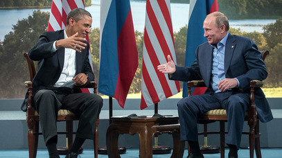 Барак Oбама и Владимир Путин