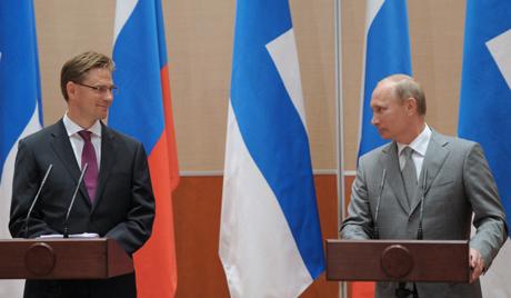 Русија и Финска -  Владимир Путин и Јуркиј Катајнен у Сочију 2011 / Восток