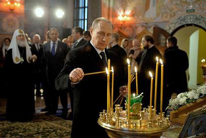 Путин у цркви преподобног Сергија Радоњешког