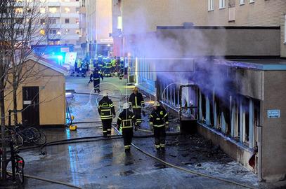 Запаљена џамија у шведском граду Ескилстуну